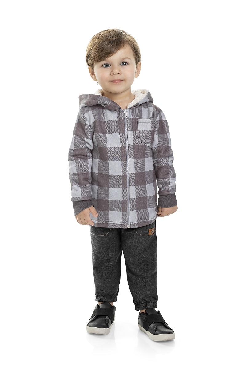 Jaqueta Infantil Masculina Xadrez - MARLAN 22595