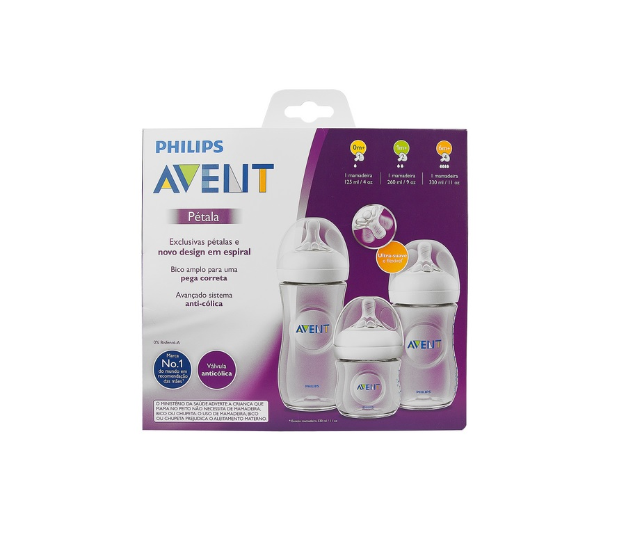 KIT MAMADEIRAS PETALA 125ML E 260ML E 330ML - PHILIPS SCD101/03