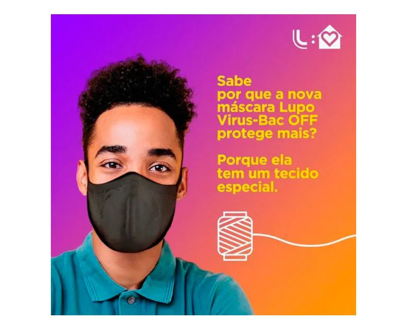 KIT MÁSCARA BAC OFF  BRANCA - LUPO 36000-9051700900