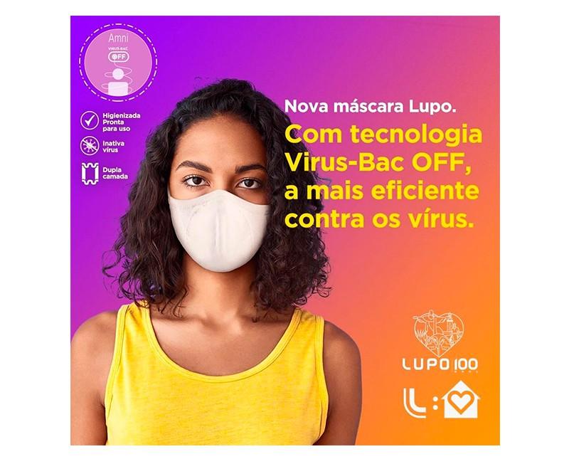 KIT MÁSCARA BAC OFF  BRANCA ZERO COSTURA - LUPO 36004-9001700900