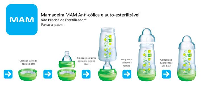 MAMADEIRA EASY START 160ML MENINO - MAM 4661