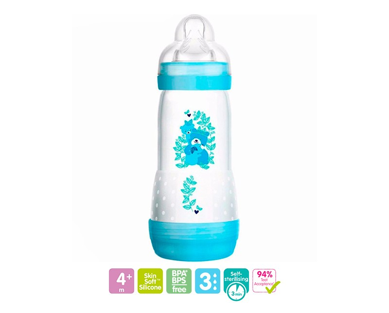 MAMADEIRA EASY START 320ML MENINO - MAM 4677