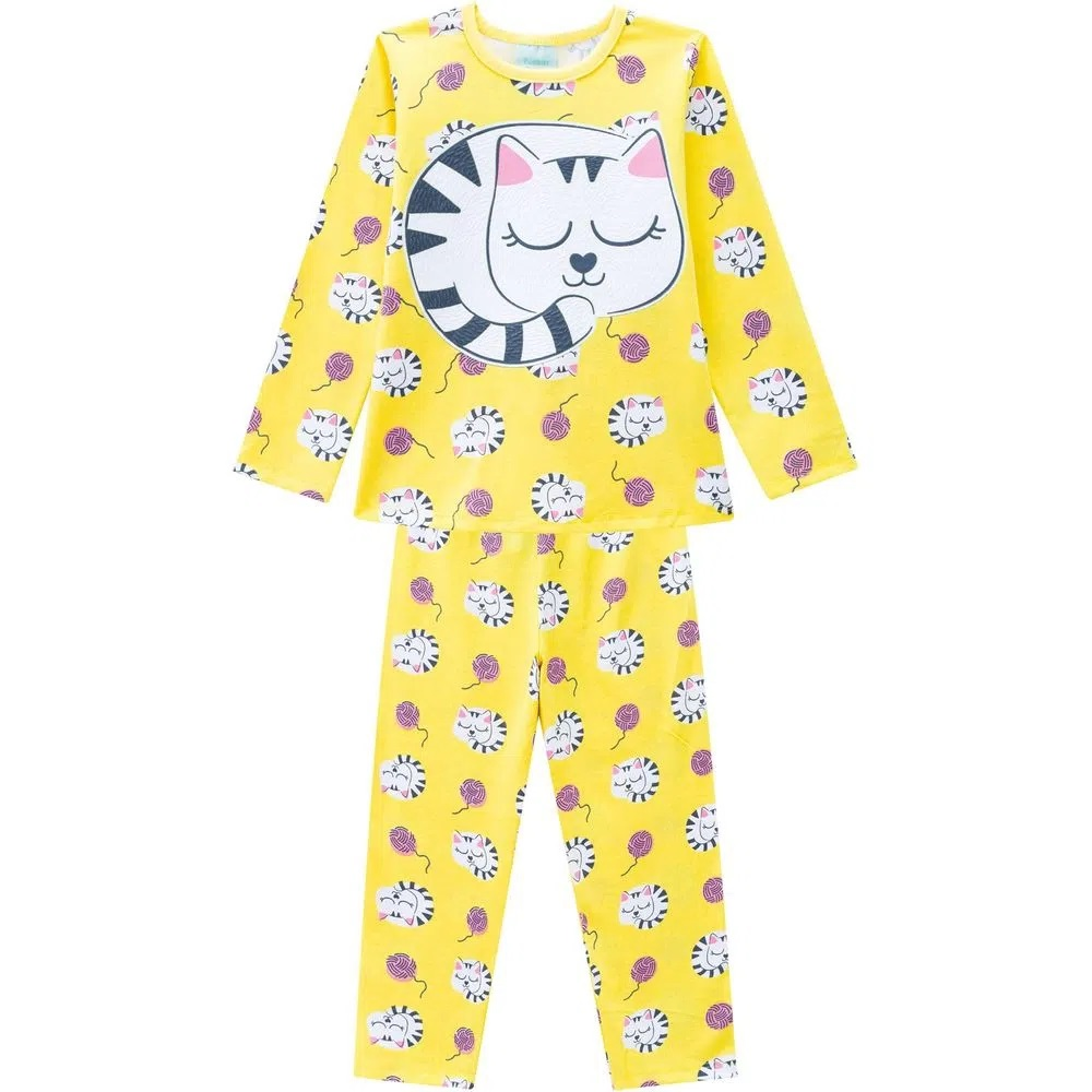 Pijama Infantil Feminino Blusa E Calça - KYLY 207527