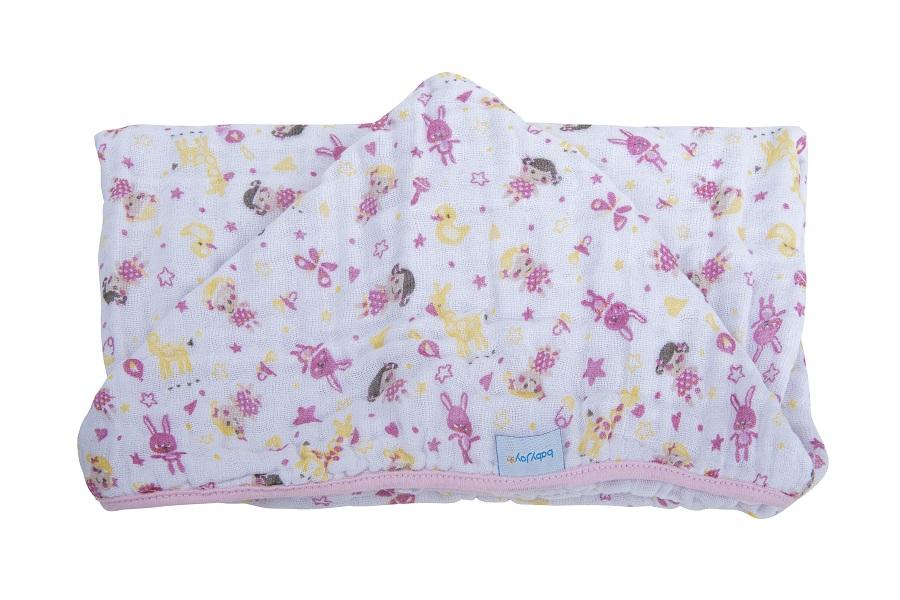 Toalha Soft com Capuz de Centro Bonequinhas - 80 cm x 90 cm