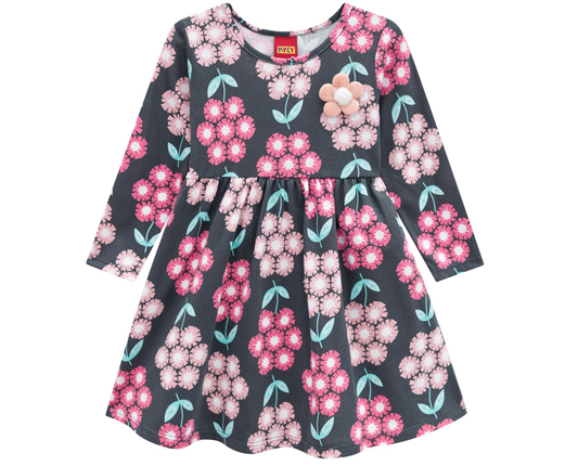 Vestido Infantil Meia Malha - KYLY 207119