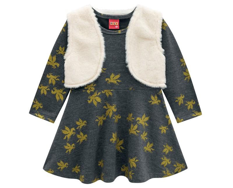 Vestido Infantil Moletinho - KYLY 207122