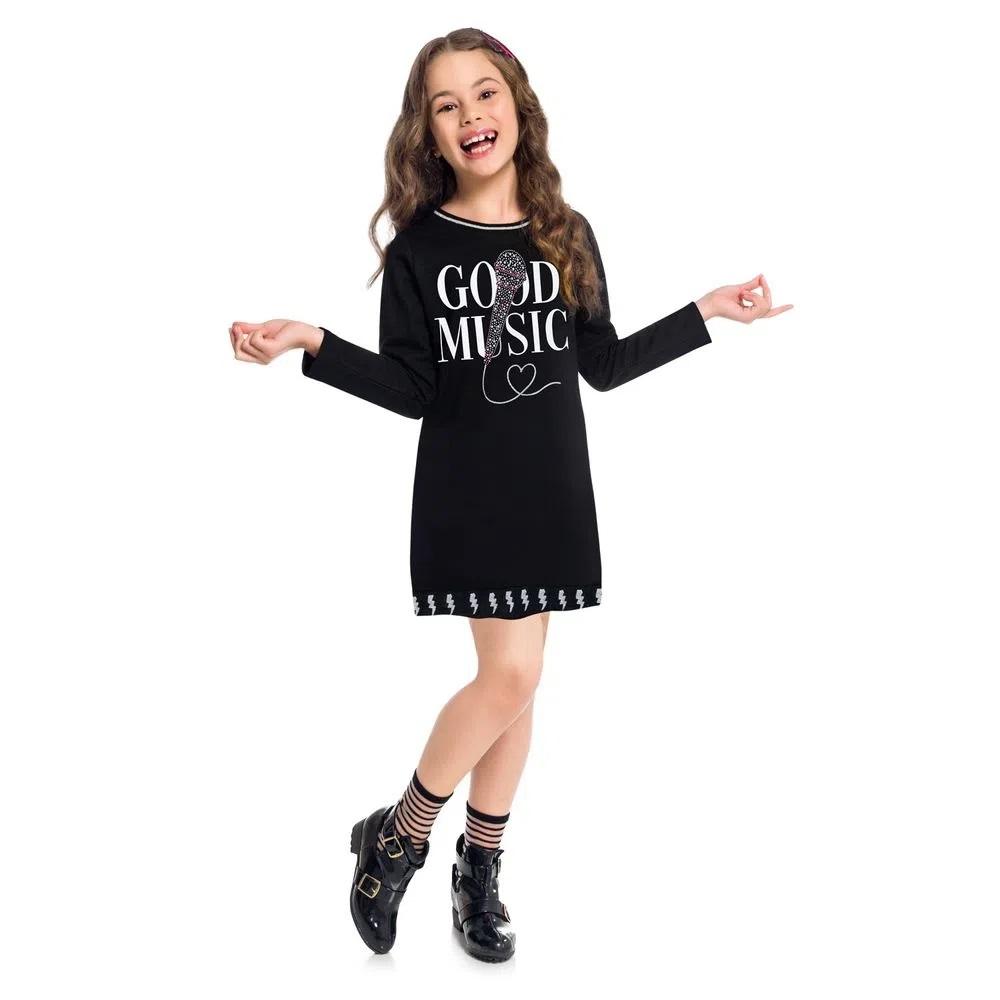 Vestido Infantil  Moletinho - KYLY 207408