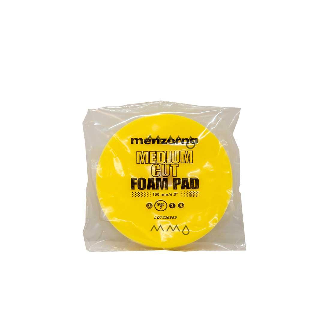 BOINA REFINO MEDIUM CUT FOAM PAD YELLOW MENZERNA 150MM/5
