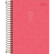 Agenda 2021 espiral 200 fls rosa Spot M5 Tilibra