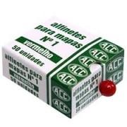 Alfinete 5mm vermelho 50 un Acc