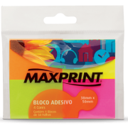 Bloco adesivo 38x50 50 fls neon Maxprint