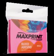 Bloco adesivo 76x102 100 fls rosa Maxprint