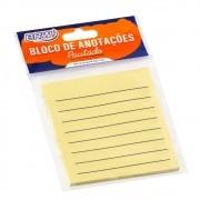 Bloco adesivo 76x76 50 fls amarelo pautado Brw