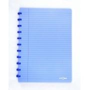 Caderno A4 72 fls azul TRANSPARENTE Atoma