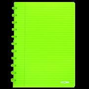 Caderno A4 72 fls verde TRANSPARENTE Atoma