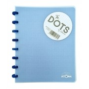 Caderno A5 72 fls azul DOTS Atoma