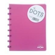 Caderno A5 72 fls rosa DOTS Atoma