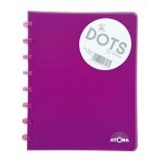 Caderno A5 72 fls roxo DOTS Atoma