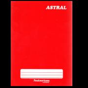 Caderno brochura 1/4 48 fls vermelho Panamericana