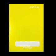Caderno brochura 1/4 96 fls amarelo Panamericana