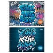 Caderno desenho 80 fls Graffiti Tilibra