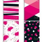 Caderno universitário 10 matérias 160 fls Love Pink Tilibra