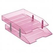 Caixa correspondência dupla articulável rosa Acrimet