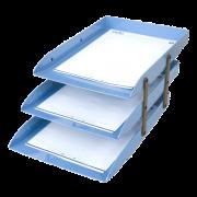 Caixa correspondência tripla articulável azul claro Dello