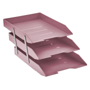 Caixa correspondência tripla articulável rosa Acrimet