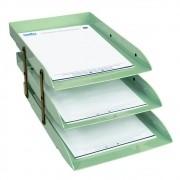 Caixa correspondência tripla articulável verde Dello