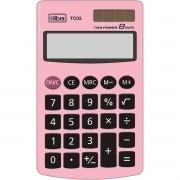 Calculadora 8 dígitos rosa claro TC03 Tilibra