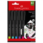 Caneta 5 cores 1.0 Supersoft Faber-Castell