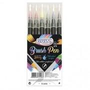 Caneta brush 6 cores Brw