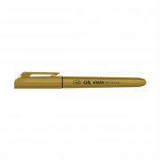 Caneta brush ouro metalizado Cis