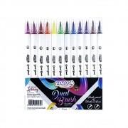 Caneta dual brush 12 cores Brw