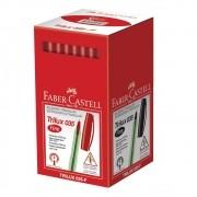 Caneta esferográfica 0.8 vermelho TRILUX 50 un Faber-Castell