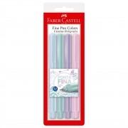 Caneta Hidrográfica 0.4 4 cores pastel FINE PEN Faber-Castell