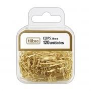 Clips 28mm dourado 120 un  Tilibra