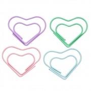 Clips coração cores pasteis 12 un Molin