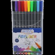 Caneta Hidrográfica 0.4 10 cores Fineliner BRW