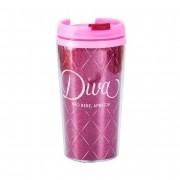 Copo térmico 200 ml Diva pop glitter Uatt