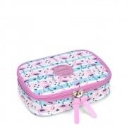 Estojo escolar box flamingo Luxcel