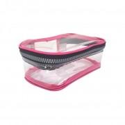 Estojo escolar box pink transparente Fizz