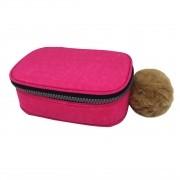 Estojo escolar box rosa pink Fizz