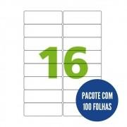 Etiqueta Nº16 100 folhas Colacril