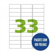 Etiqueta Nº33 100 folhas Colacril