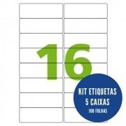 Etiqueta Nº16 5 caixas 100 folhas Colacril