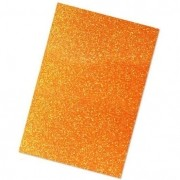 EVA glitter 40x60 laranja Dubflex