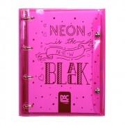 Fichário escolar rosa neon BUBBLE Dac