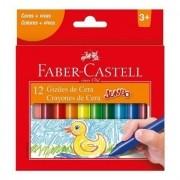 Giz de cera longo 12 cores Faber-Castell